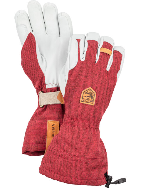 Hestra M's Army Leather Patrol Gauntlet Gloves Dark Red